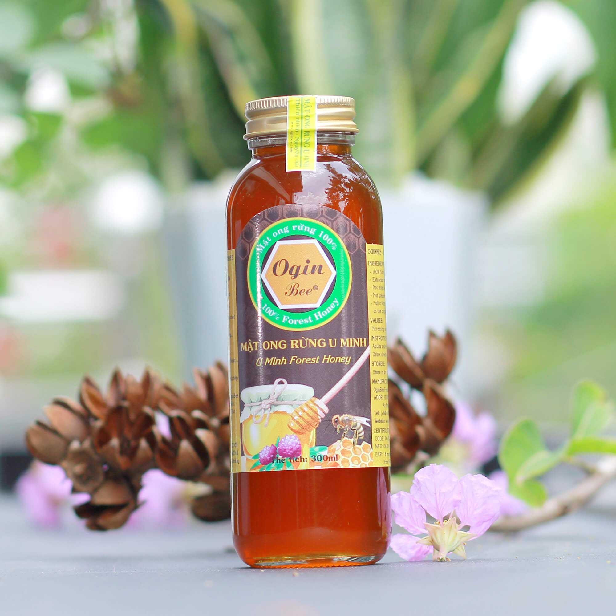 Mật ong rừng nguyên chất chai 300ml