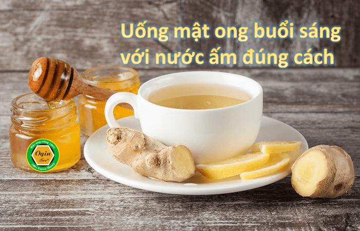 uống mật ong buổi sáng