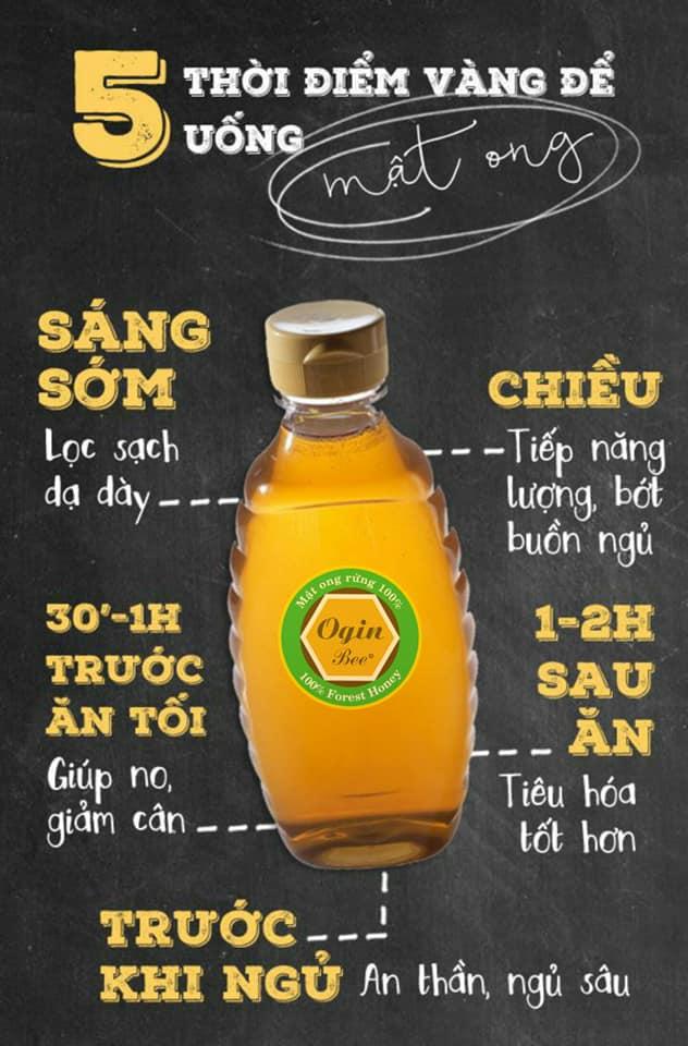 5 thời điểm uống mật ong