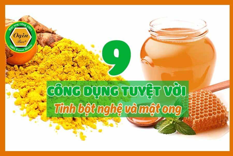 Công dụng của tinh bột nghệ và mật ong giúp cải thiện sức khỏe và ngăn bệnh