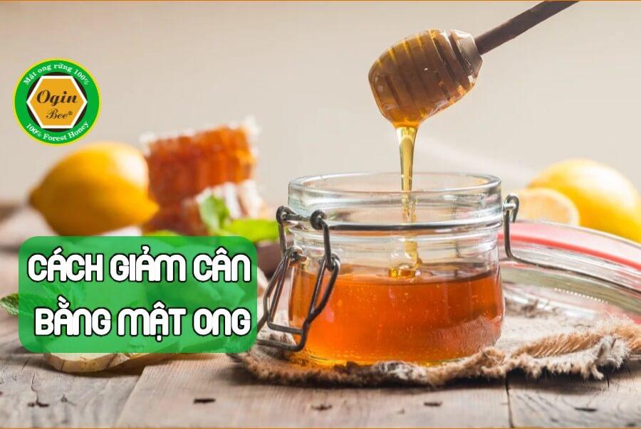 uống mật ong giảm cân