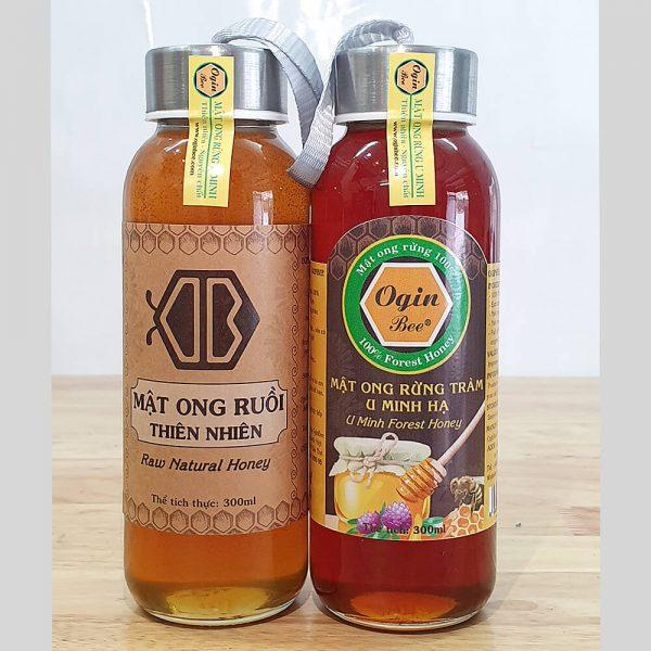 mật ong ruồi và mật ong rừng u minh 300ml