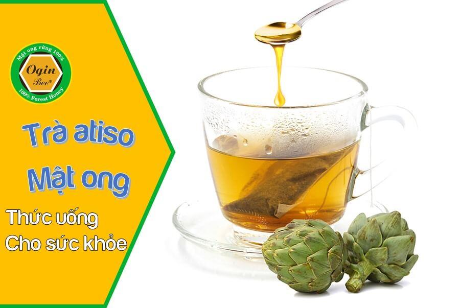 trà atiso pha mật ong rừng