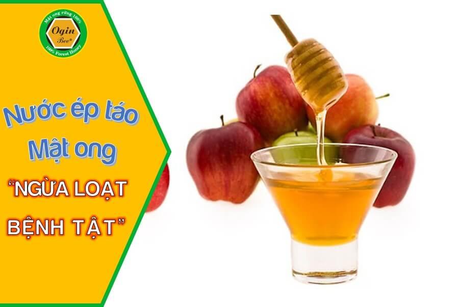nước ép táo mật ong