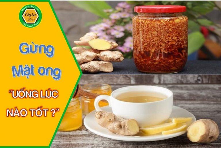 uống gừng mật ong